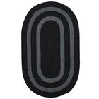 Westfield Hand-Woven Black Area Rug Rug Size: Round 6'
