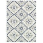 Ridgway Flat woven/Power Loom Ivory/Blue Indoor/Outdoor Area Rug Rug Size: Rectangle 8'1