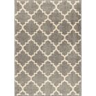 Decatur Gray/Ivory Area Rug Rug Size: 7'10