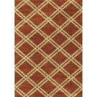 Menominee Shag Burnt Orange Area Rug Rug Size: 7'10