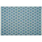 Mackinaw Hand-woven Blue/Beige Area Rug Rug Size: 5'7