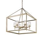 Thorne 6-Light Foyer Pendant Finish: White Gold, Shade Color: Clear Glass