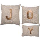 Goldsboro 3 Piece JOY Cotton Linen Throw Pillow Set