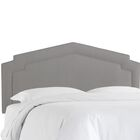 Cynthia Smooth Upholstered Panel Headboard Size: King, Upholstery Color: Gray