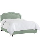 Cynthia Smooth Linen Upholstered Panel Bed Size: California King, Headboard Color: Swedish Blue