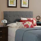 Dawn Upholstered Panel Headboard Size: Full, Upholstery: Smoke Grey