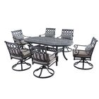 Derry 7 Piece Dining Set with Cushions