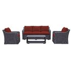 Danby 4 Piece Sofa Set with Cushions Color: Brick