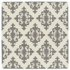 Slovan Hand-Tufted Gray/Ivory Area Rug Rug Size: Square 5'9