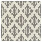 Slovan Hand-Tufted Gray/Ivory Area Rug Rug Size: Square 7'9