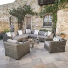 Monroeville 8 Piece Sunbrella Sectional Set with Cushions