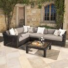 Monroeville 5 piece Sunbrella Sectional Set with Cushions Fabric: Frank Stone