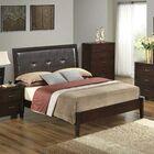 Hoytville Upholstered Panel Bed Color: Cherry, Size: King