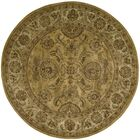 Delaware Gold Area Rug Rug Size: Round 6'