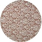 Peachtree Corners Tatham Hand-Hooked Brown/Beige Area Rug Rug Size: Round 5'6