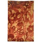 Lanclos Hand-Knotted Red Area Rug Rug Size: Rectangle 4' x 6'