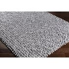 Cosima Hand-Crafted Gray Area Rug Rug Size: Rectangle 2' x 3'