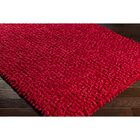 Cosima Hand-Crafted Red Area Rug Rug Size: Rectangle 4' x 6'
