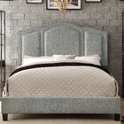 Niagara Queen Upholstered Panel Bed Color: Fabric - Gray