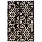 Blue Skye Hand-Tufted Black/Natural Area Rug Rug Size: Rectangle 5' x 8'
