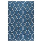 Findley Hand-Woven Blue/Ivory Area Rug Rug Size: Rectangle 3'6