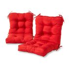 Sarver Synthetic Indoor/Outdoor Dining Chair Cushion Fabric: Salsa Red