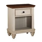 Stroupe 1 Drawer Nightstand Color: White
