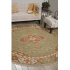 Cullen Hand-Woven Jade Area Rug Rug Size: Round 8'