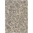 Ullin Ivory/Blue Area Rug Rug Size: Rectangle 6'6