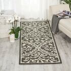 Hockenberry Hand-Hooked Wool Gray/Ivory Area Rug Rug Size: Rectangle 8' x 11'