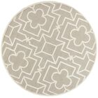 Che Hand-Tufted Beige/Gray Area Rug Rug Size: Round 5'6
