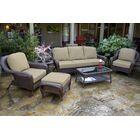 Fleischmann 6 Piece Sofa Set with Cushions Color: Mojave, Fabric: Sunbrella Canvas Wheat