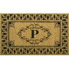 Secrist Letter Doormat Mat Size: 3' x 6', Letter: P