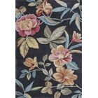 Lyman Charcoal Floral Area Rug Rug Size: Round 5'6