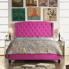Arandike Upholstered Platform Bed Color: Magenta Pink, Size: Queen