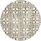 Naples Park Ivory/Brown Area Rug Rug Size: Rectangle 9' x 12'