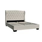 Meibel Upholstered Platform Bed Size: King, Color: Beige