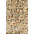 Keith Beige Floral Area Rug Rug Size: Rectangle 5' x 8'