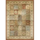 Beecroft Tan/Rust/Light Blue Area Rug Rug Size: 5'3