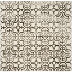 Naples Park Ivory/Brown Area Rug Rug Size: Square 7'