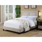 Ackles Queen Upholstered Panel Bed Color: Beige