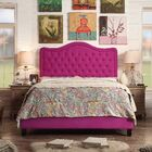 Turin Upholstered Platform Bed Color: Magenta, Size: Twin, Upholstery Type: Other