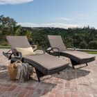 Lenahan Reclining Chaise Lounge with Cushion Color: Charcoal