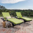 Lenahan Reclining Chaise Lounge with Cushion Color: Green