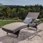 Lenahan Traditional Chaise Lounge with Cushion Color: Charcoal