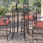 Doric Bar Table Finish: Antique Black