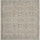 Cambridge Dusty Hand-Tufted Blue/Cement Area Rug Rug Size: Square 4'