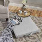 Garlan Linen Floor Pillow Color: Charcoal