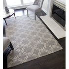 Aubin Geometric Hand-Tufted Wool Gray Area Rug Rug Size: 5' x 8'