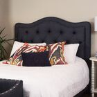 Bromberg Upholstered Panel Headboard Size: King, Upholstery: Navy